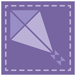 icon purple kite