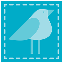 icon blue bird