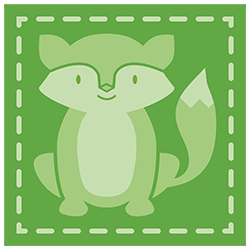 icon green raccoon