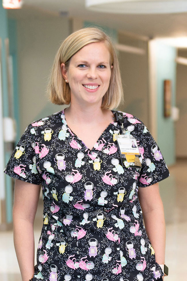 Laura Corbett, nurse manager in the NICU photo