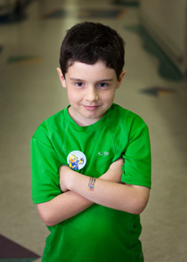 Otolaryngology boy in green shirt