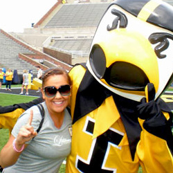 Abby Johnson and Herky