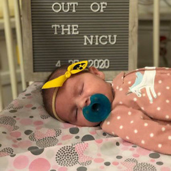 Eliana Cox, in NICU photo