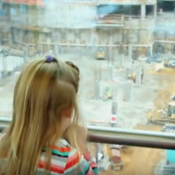 I spy with my little eye photo of child watching construction
