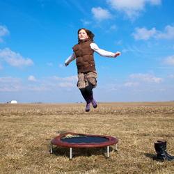 Caroline Louise Jumping Near Andrew, Iowa