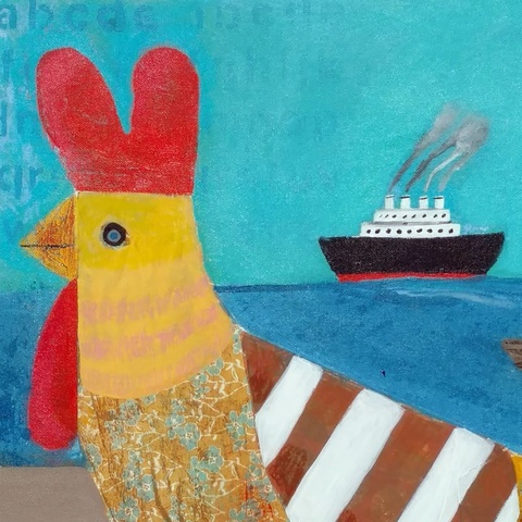 Rooster and Boats