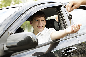 Teenager Reaching for Car Keys